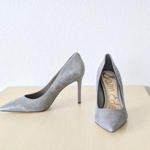 Sam Edelman Hazel Pewter Metallic Leather